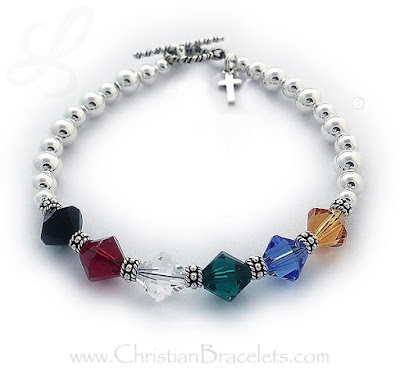 Salvation Charm Bracelet with a Tiny Cross Charm  Link: https://christianbracelets.com/salvationbracelet4.htm#jewelry