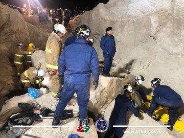 حادثة الجدار الرملي فى الكويت 6 وفيات و3 إصابات