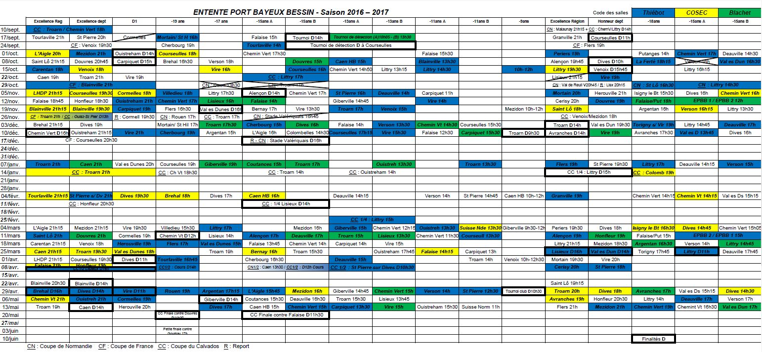 Entente port bayeux bessin handball calendrier for Intersport cherbourg