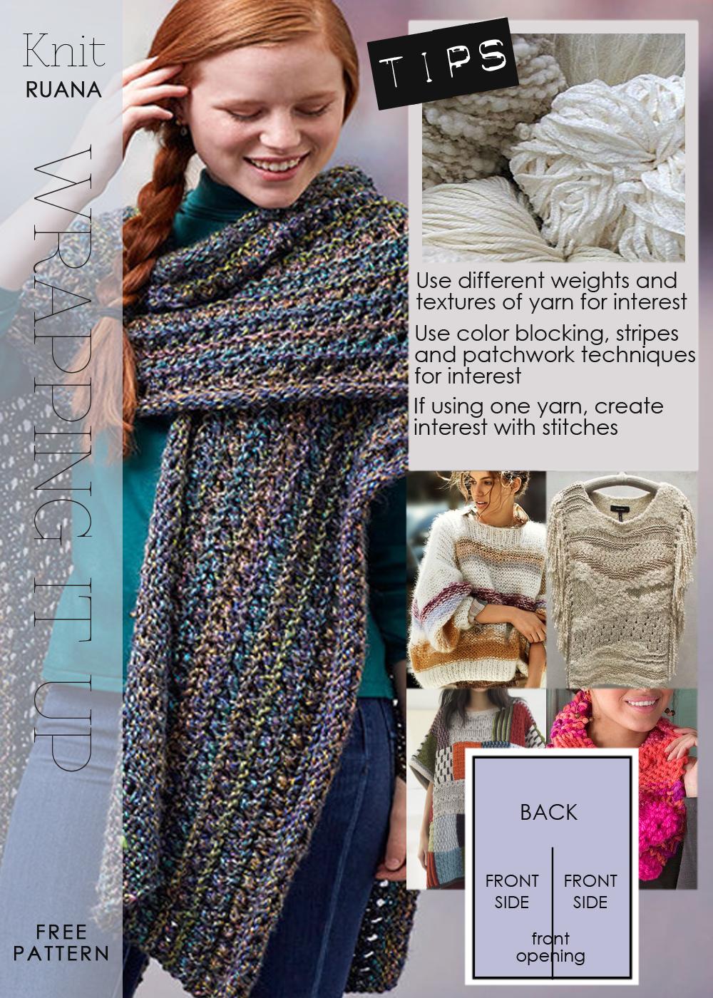 Knit Ruana Pattern Free : DiaryofaCreativeFanatic