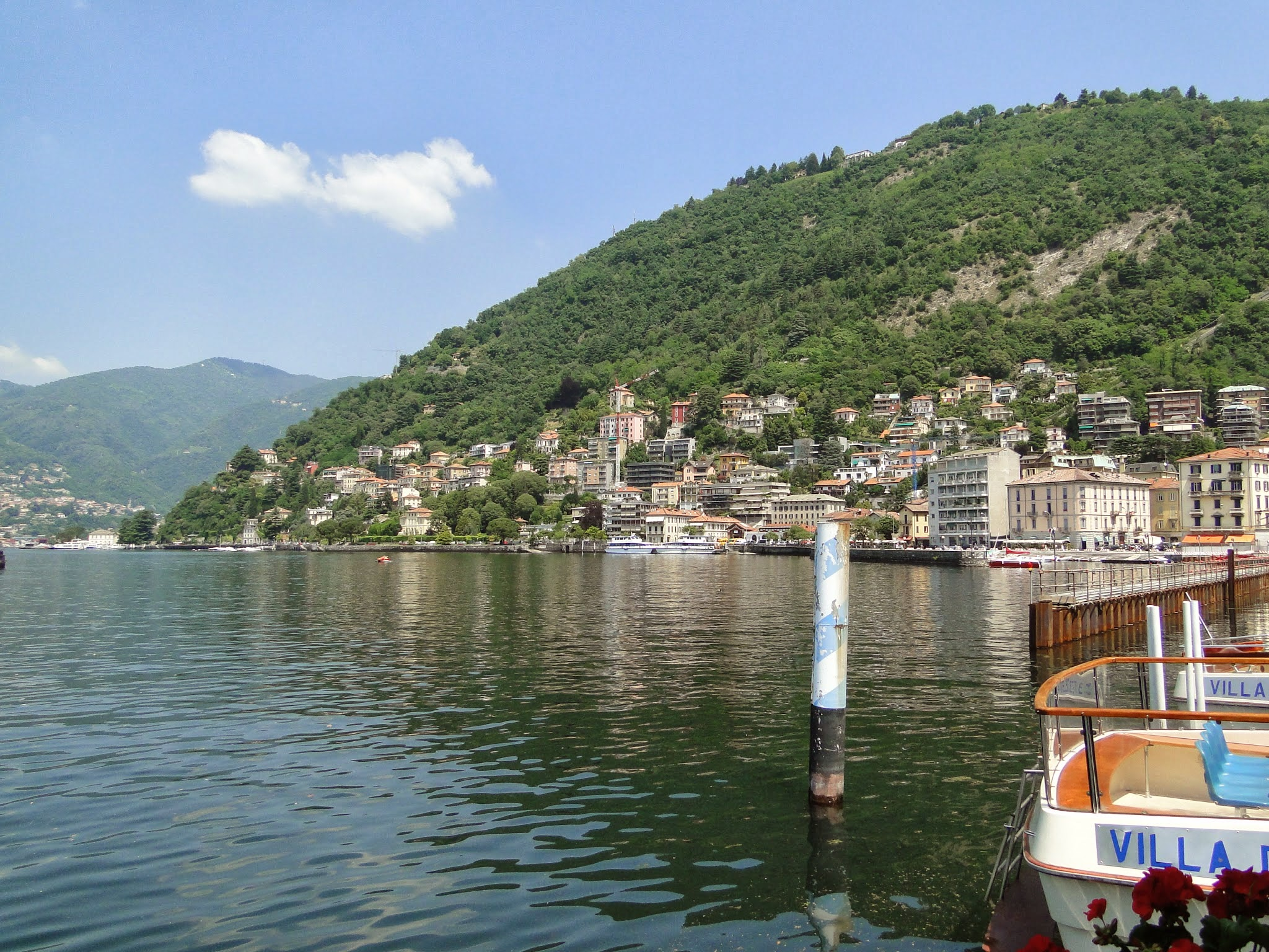 Lago di Como na Itália