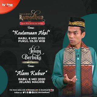 Saksikan Indahnya Ramadhan dan Jelang Berbuka bersama Ustadz Abdul Somad di TVOne 6 Mei 2020 - Kajian Islam