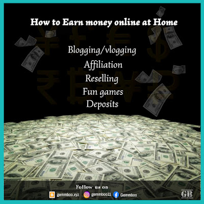 How to Earn Money Online at Home without any investment
