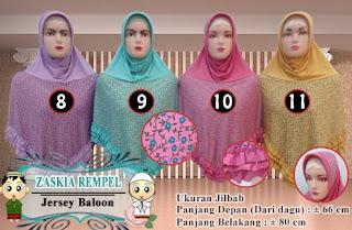Jilbab instan rempel terbaru bahan balon harga murah