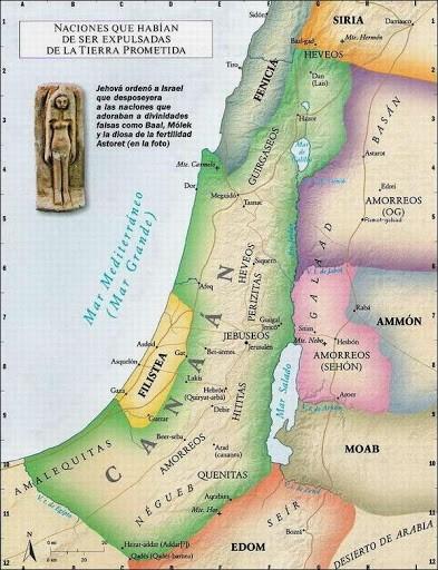 Canaan-mapa