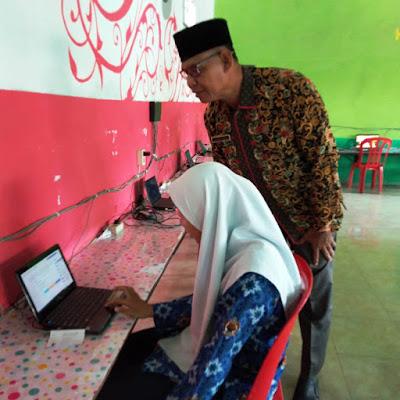 Kasi Penmad Kemenag Tanjungbalai Tinjau Gladi Bersih Pelaksanaan Simulasi UAMBN-BK