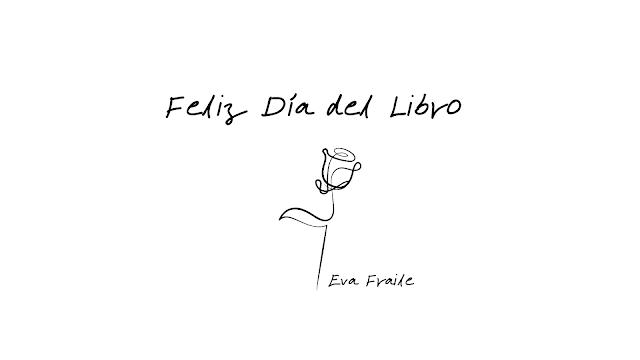 feliz Día del Libro Sant Jordi frase y rosa
