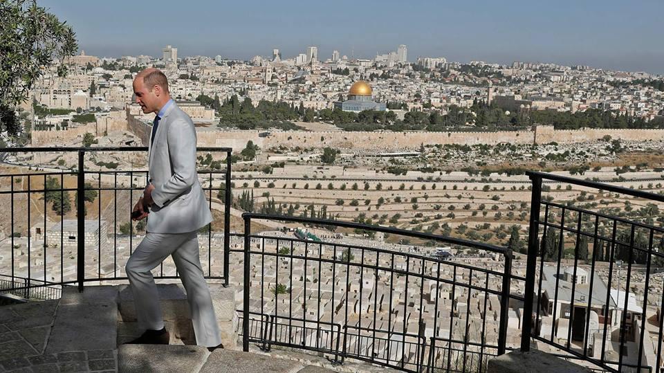Prince William visits Jerusalem's Mount of Olives