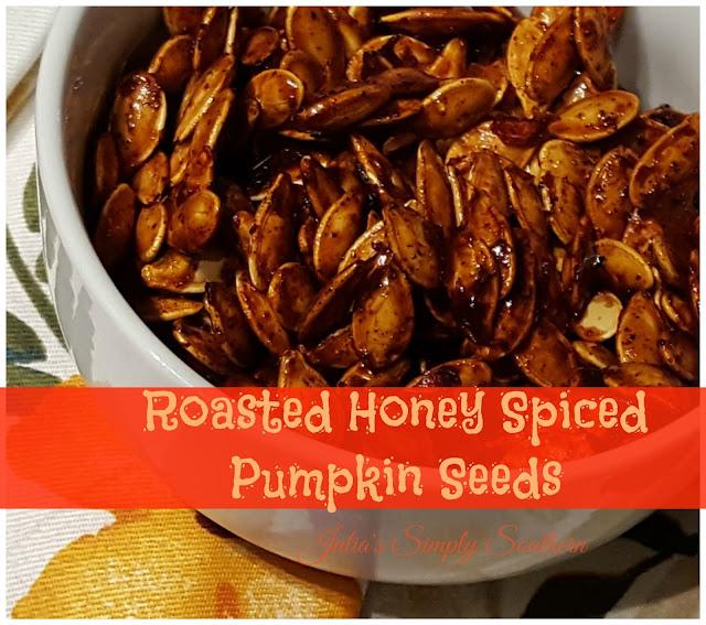 Julia's Simply Southern: Roasted Honey Spiced Pumpkin Seeds