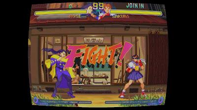Street Fighter 30th Anniversary Collection - CRT Screen curvature - Rose VS Sakura