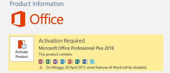Cara Aktivasi Microsoft Office 2013 atau 2016 menggunakan ...