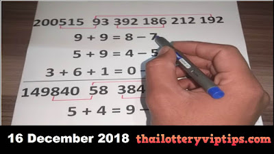 Thai lottery direct set VIP 3up set must win paper 16 December 2018