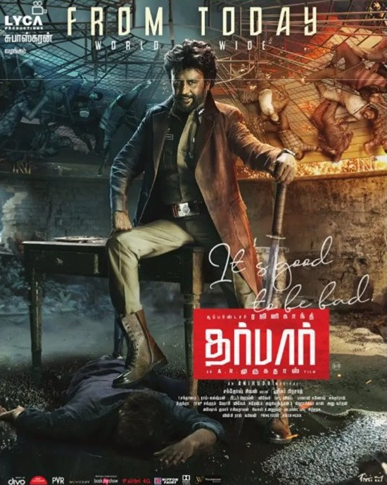 Darbar (2020) Tamil Movie 720p Pre-DVDRip 900MB