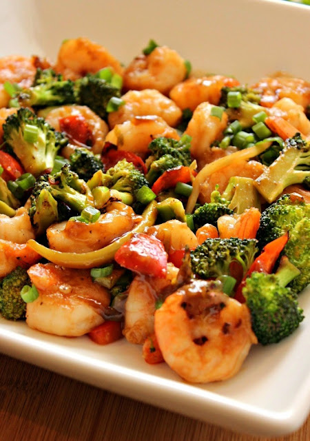 Healthy stir fry in a thick flavorful sauce