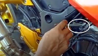 Letak Nomor Rangka dan Nomor Mesin Ninja 250 Fi