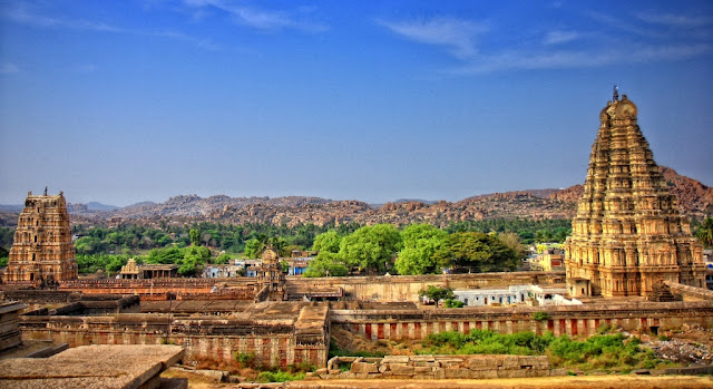 The overview of Virupaksha temple Hampi - Pick, Pack, Go