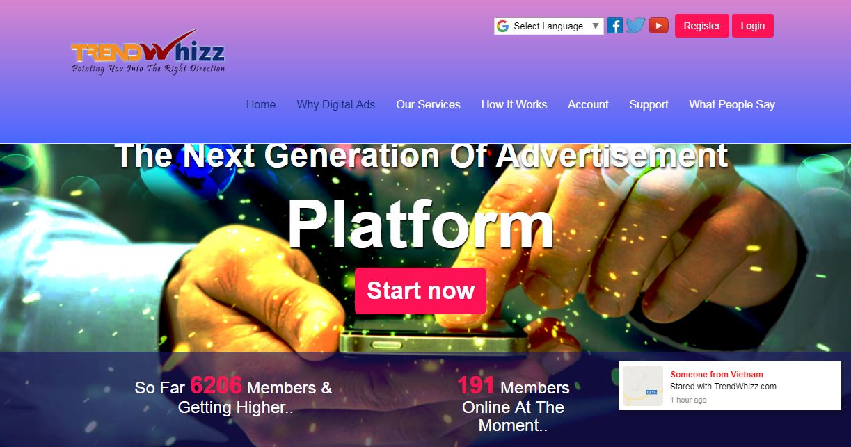 TrendWhizz Latest Advertisement Revenueshare Platform 2018