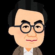 坂口安吾の似顔絵イラスト
