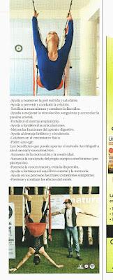 PILATES AEREO Y YOGA AEREO POR RAFAEL MARTINEZ  EN PRENSA Y TELEVISION