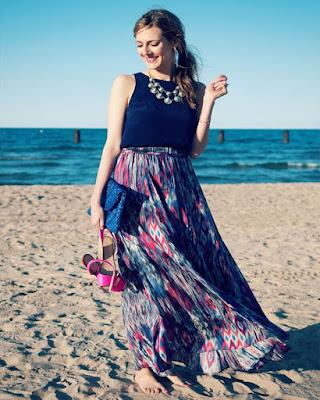 vestido largo para la playa 2018