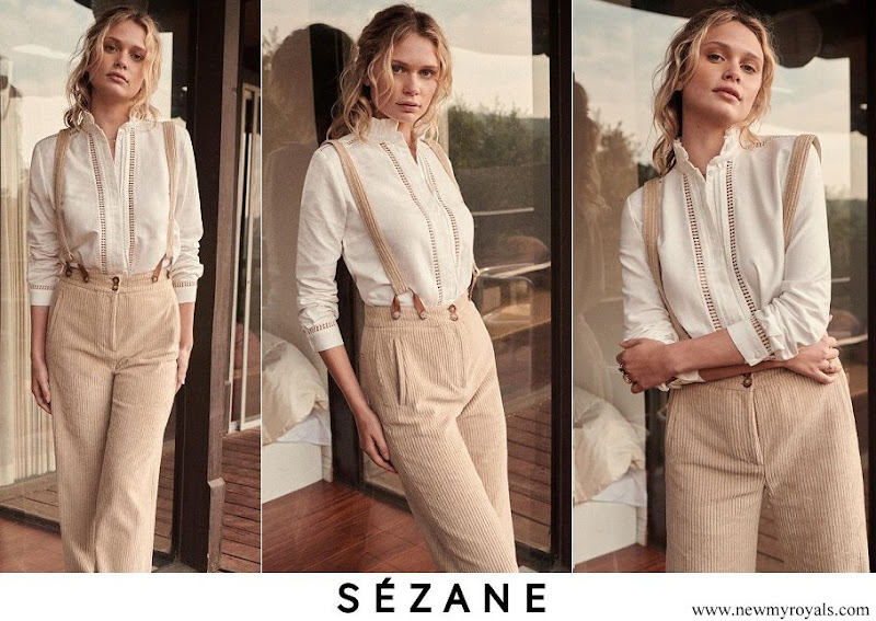 Kate Middleton wore Sézane Marguerite shirt