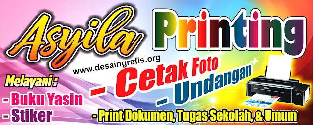 desain banner spanduk usaha percetakan cdr gratis