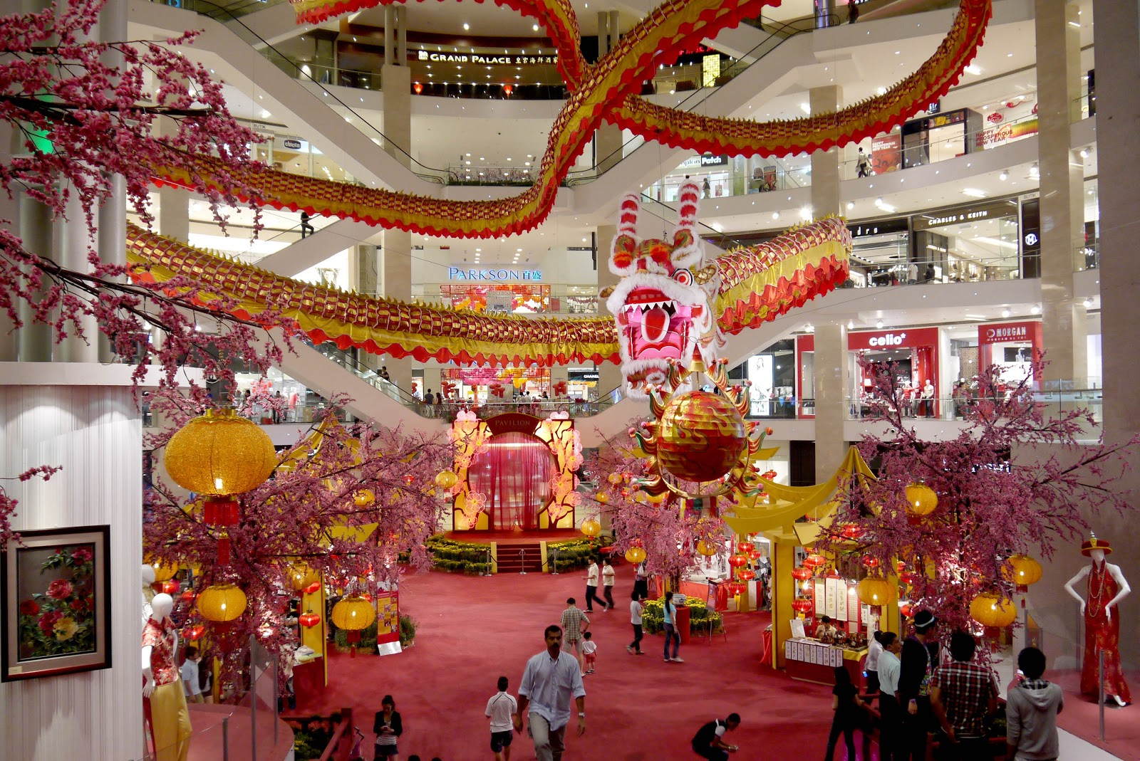 Kuala Lumpur 2012 - Chinese New Year Decor at The Pavilion KL