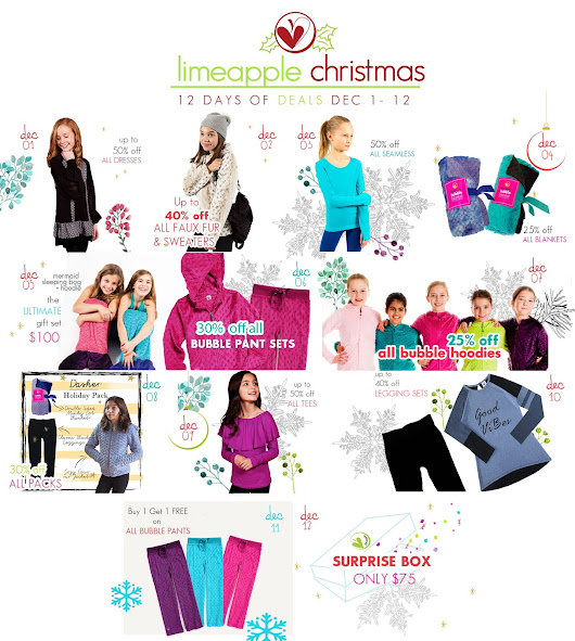 The 12 Days of Christmas Sale at Limeapple.com & A Giveaway!
