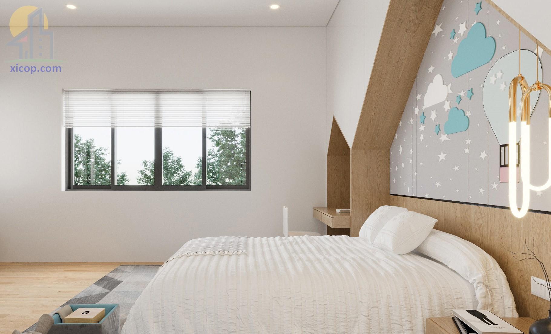 Biệt thự 2 tầng đơn giản với mẫu nhà biệt thự hai tầng thiết kế đẹp