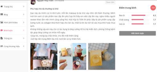 Review khách hàng về viên uống cấp nước Collagen Innerb Aqua Rich CJ Cheiljedang