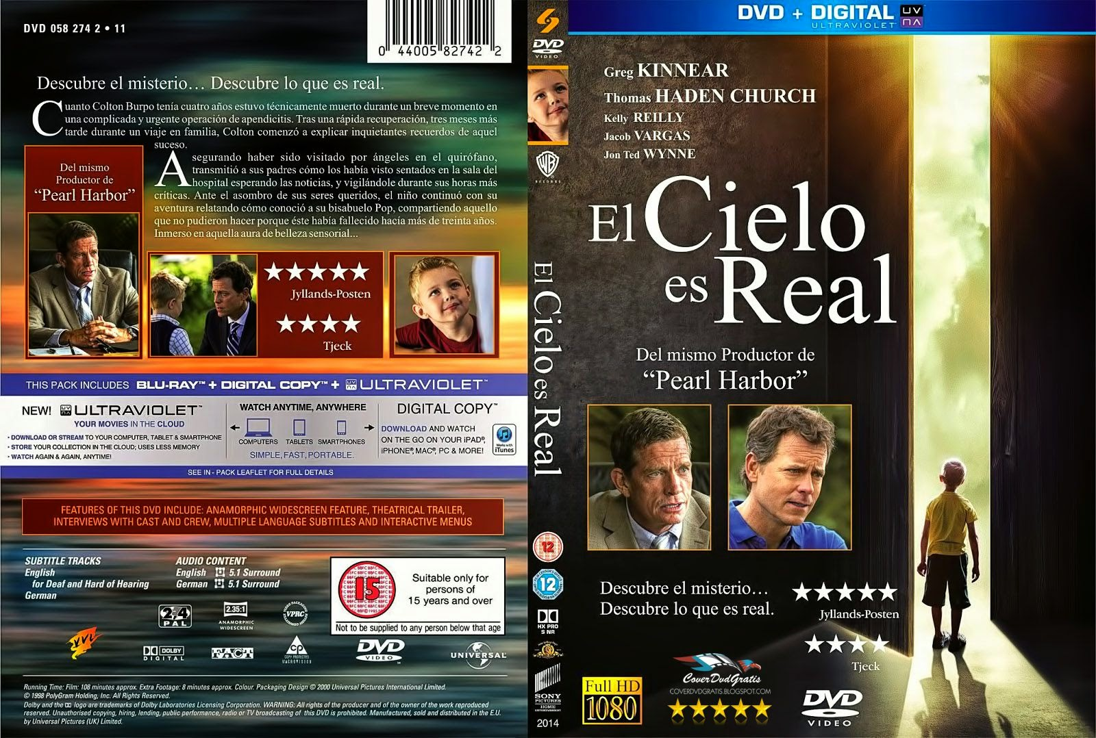 Heaven Is For Real 2014 Dvd Cover Coverdvdgratis