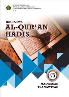 Buku Al Quran Hadis Kelas 7 MTs