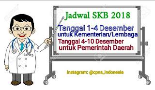 Jadwal Pelaksanaan SKD 2018 Kementerian dan Daerah
