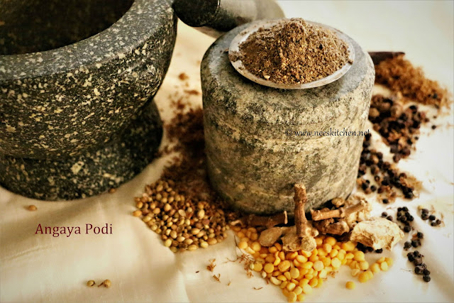 Angaya Podi | Post Natal Food for digestion
