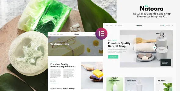 Best Natural & Organic Soap Shop Elementor Template Kit
