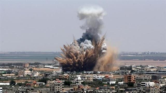Israeli air strike, artillery shells hit Gaza, 25 injured