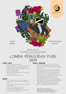 Peserta wajib like fanpage facebook Oase Pustaka Terbaru Lomba Menulis Puisi - Lomba Penulisa Puisi OASE Group