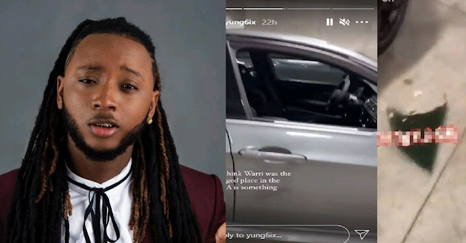 ENT NEWS : MY WHOLE LIFE WAS IN THAT CAR- RAPPER, YUNGSIX CRIES OUT AFTER BEING ROBBED IN THE U.S VIDEO ]