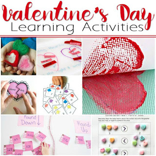 Math, Art, and Literacy Valentine's Day themed learning activities for your Early Elementary Student!