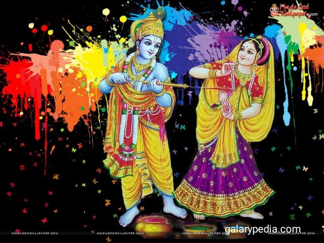 Radha Krishna holi images