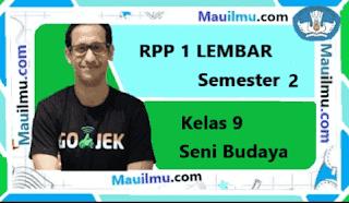 RPP 1 Lembar Seni Budaya kelas 9 Semester 2 daring