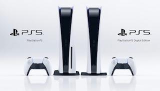 PS5の本体とコントローラ