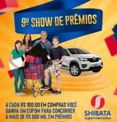 Cadastrar Promoção Shibata Show de Prêmios 2019 - 600 Mil em Prêmios