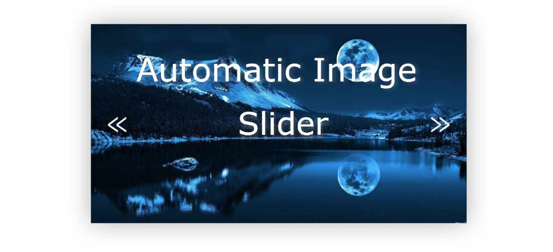 Automatic Image Slider in Html, CSS and Javascript
