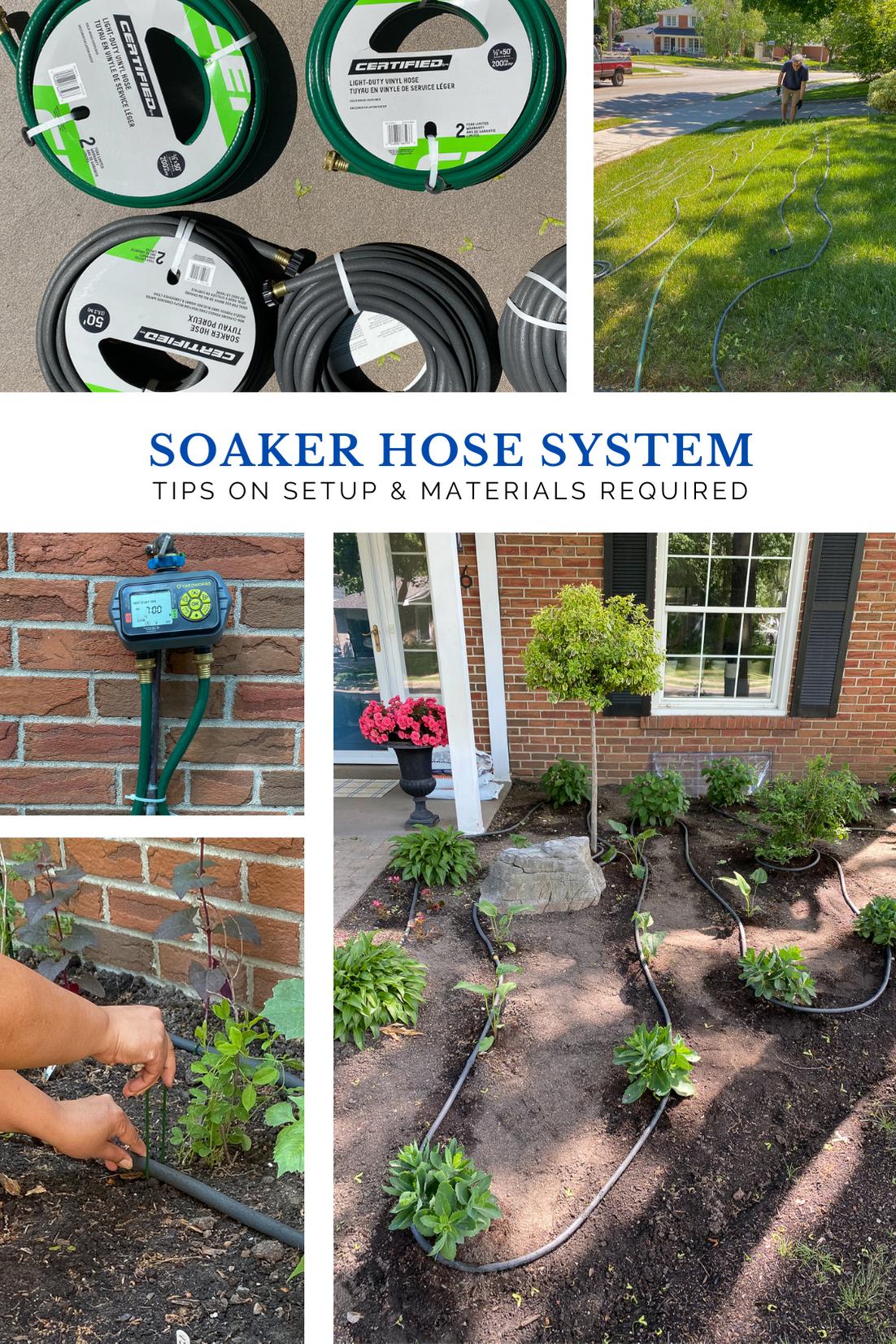 soaker hose system for the garden, soaker hose irrigation, garden soaker hose, how to set up a soaker hose system