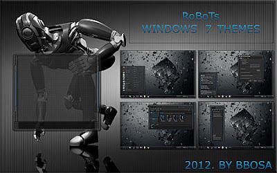 THEME WINDOWS 7 ROBOTS COOL TERBARU