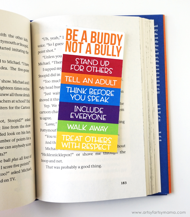 Help Stop Bullying with Free Printable Anti-Bullying Bookmarks! #PottymouthandStoopid