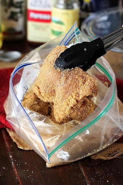 Coating Chicken with Homemade Shake & Bake Image