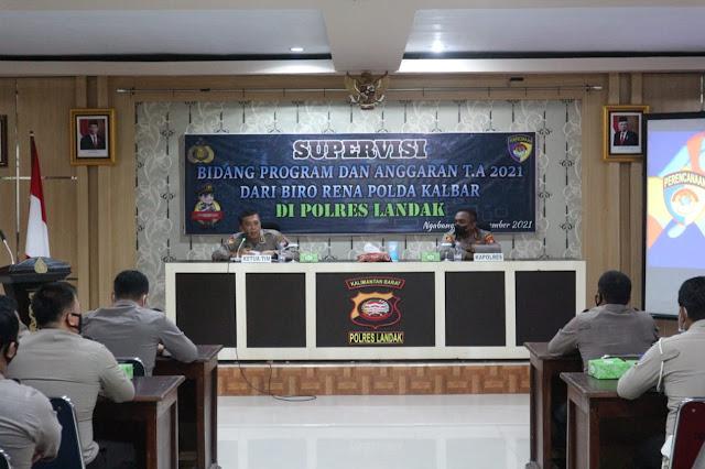 Polres Landak sambut kedatangan Supervisi dari Polda Kalbar