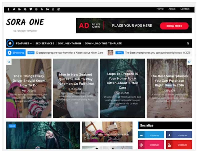 Fully Customize Blogger  Template 2021
